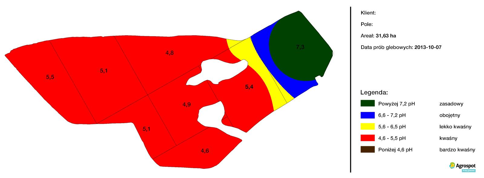 Mapa zasobności glebowej pH